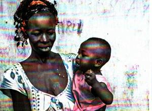 Familie in Westafrika