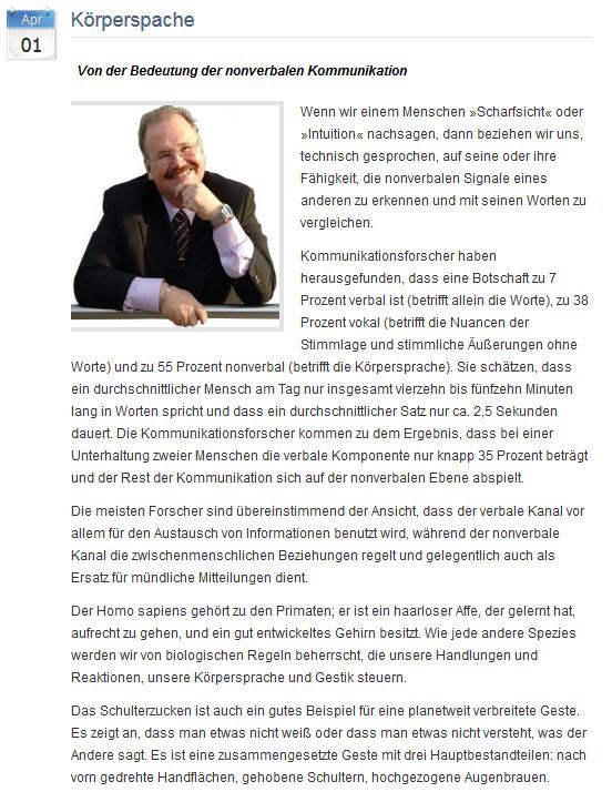 Pressemitteilung Motivationstrainer Thomas Gangloff