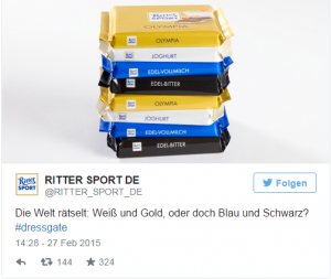 Ritter Sport Marketing zu #dressgate