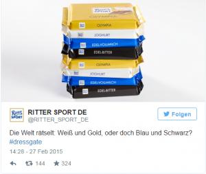 Ritter Sport Marketing zu #dressgate