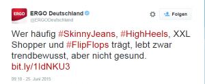 ERGO Deutschland auf Twitter_ _Wer häufig #SkinnyJeans, #HighHeels, XXL Shopper