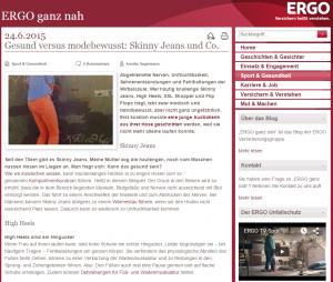 #SkinnyJeans auf dem @ERGODeutschland Blog