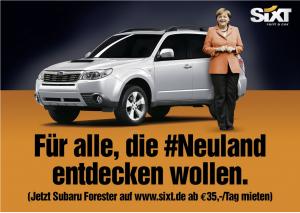 Sixt Kampagne #Neuland