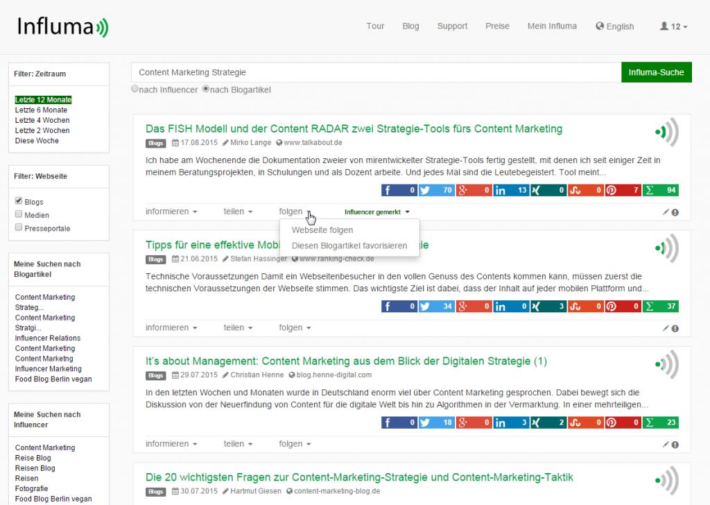 Content Marketing Strategie Themensuche, Themenmonitoring, Influencer Relations