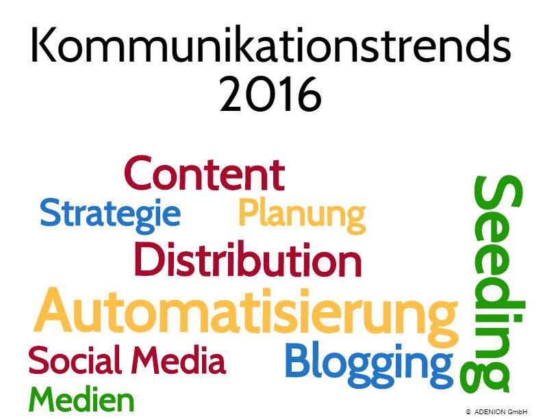 Kommunikationstrends 2016