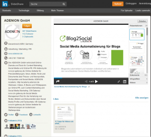 Online Marketing Profil Adenion Slideshare