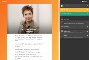 Online Marketing Aboutme Profil Melanie Tamble