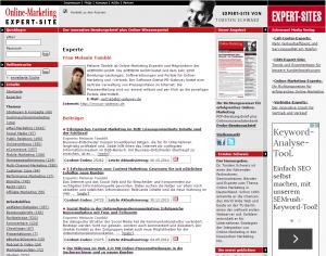 Online-Marketing-Expert Site Profil Melanie Tamble