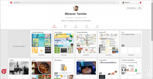 Online Marketing Pinterest Profil Melanie Tamble