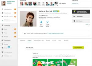 Online Marketing Profil Melanie Tamble XING