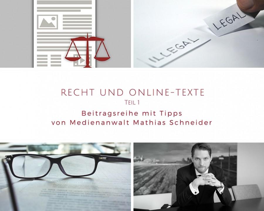 Recht und Online-Texte