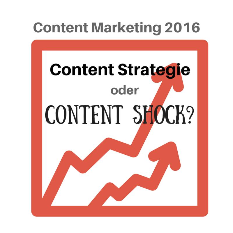 Content Marketing Studie 2016: Content Strategie oder Content Shock