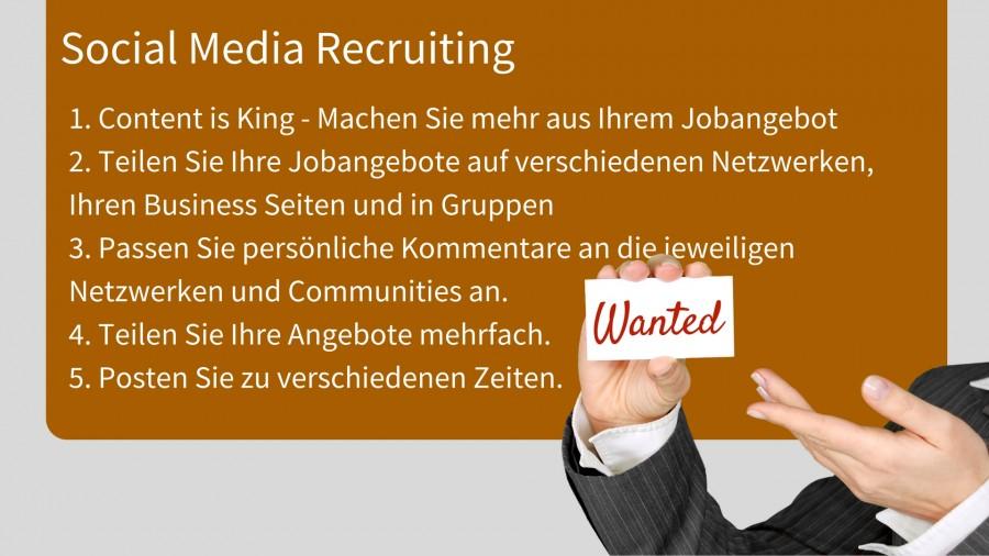 Regeln für das Social Media Recruiting