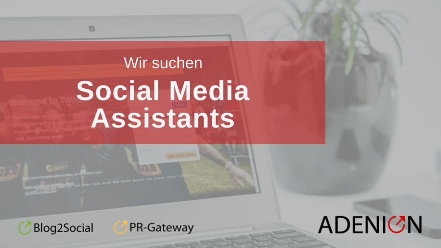 Jobangebot Social Media Assistant