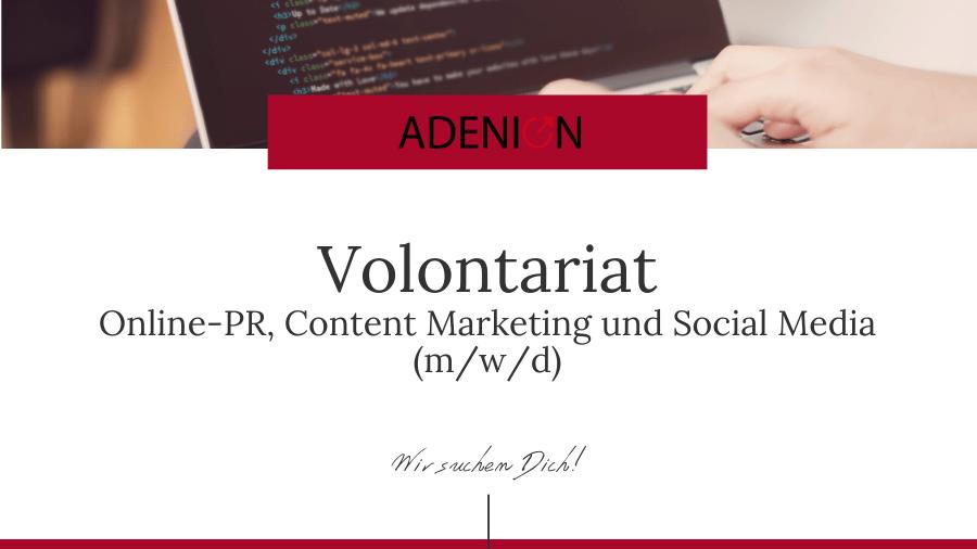 Volontariat Online-PR Content Marketing Social Media