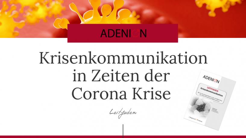 Krisenkommunikation Corona